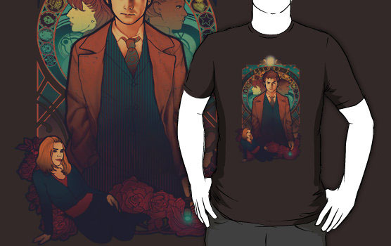 Doctor Who Allons-y T-Shirt featuring David Tennant