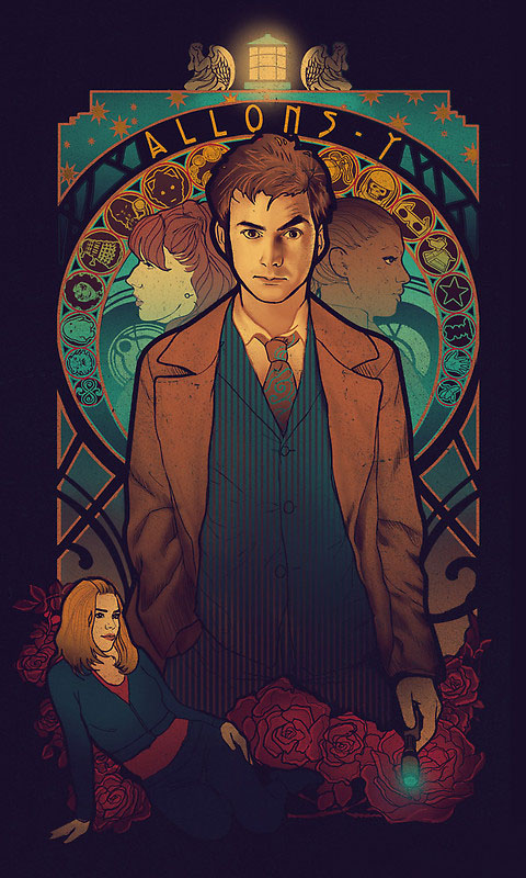 Doctor Who Allons-y T-Shirt with David Tennant