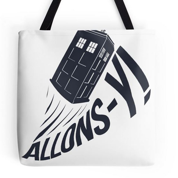 Doctor Who Allons-y Tote Bag