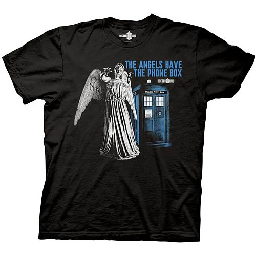 Doctor Who Angels Have the Phone Box T-Shirt