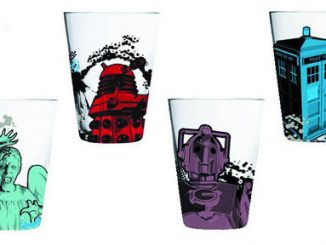 Doctor Who Weeping Angel, Dalek, Cyberman & Tardis Anthony Dry Glass Tumbler Set