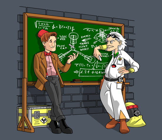 Doctor Who Back to the Future With A Little Help Shirt