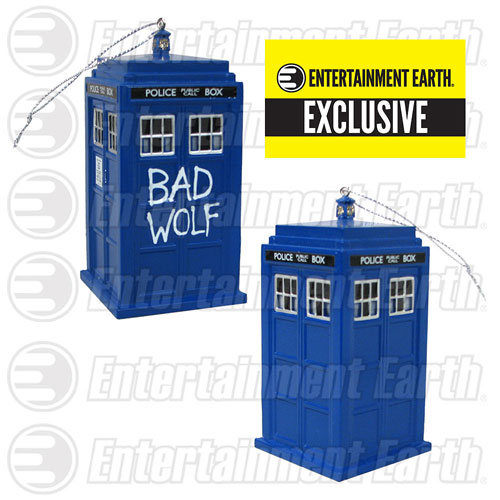 Doctor Who Bad Wolf TARDIS Holiday Ornament with Sound