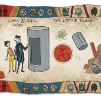 Doctor Who Baywheux Tapestry Detail