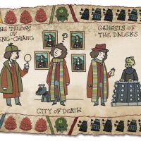 Doctor Who Baywheux Tapestry Fourth Doctor