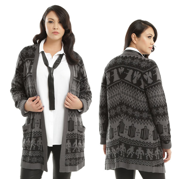 doctor-who-black-and-grey-flyaway-cardigan