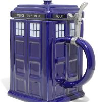 Doctor Who Blue TARDIS Stein
