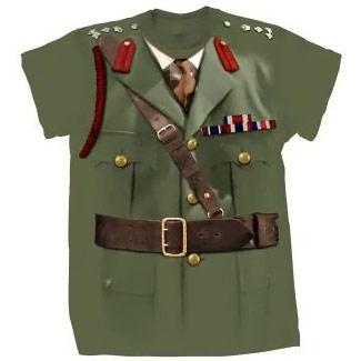 Doctor Who Brigadier Lethbridge Stewart Costume TShirt