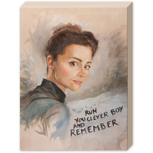 Doctor Who Canvas Print Clara Painting
