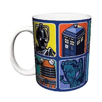 Doctor Who Cartoons Mug