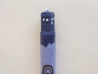 Doctor Who Carved Crayon Art TARDIS