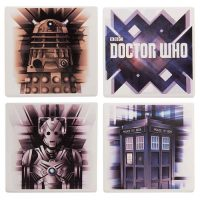 Doctor Who Ceramic Coaster 4-Pack