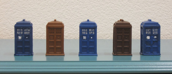 Doctor Who Chocolate TARDIS variety