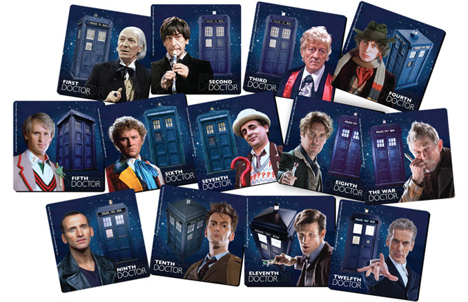 Doctor Who Coaster Set and Tin Storage Box