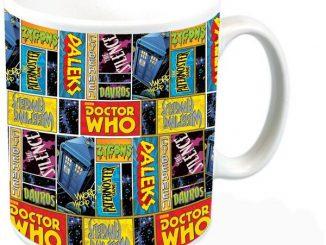Doctor Who Comic Squares Mug