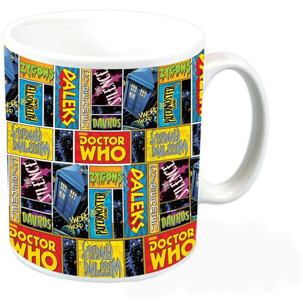 Doctor Who Comic Squares Mug