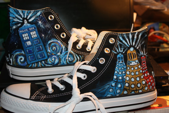 doctor who converse hightop shoes