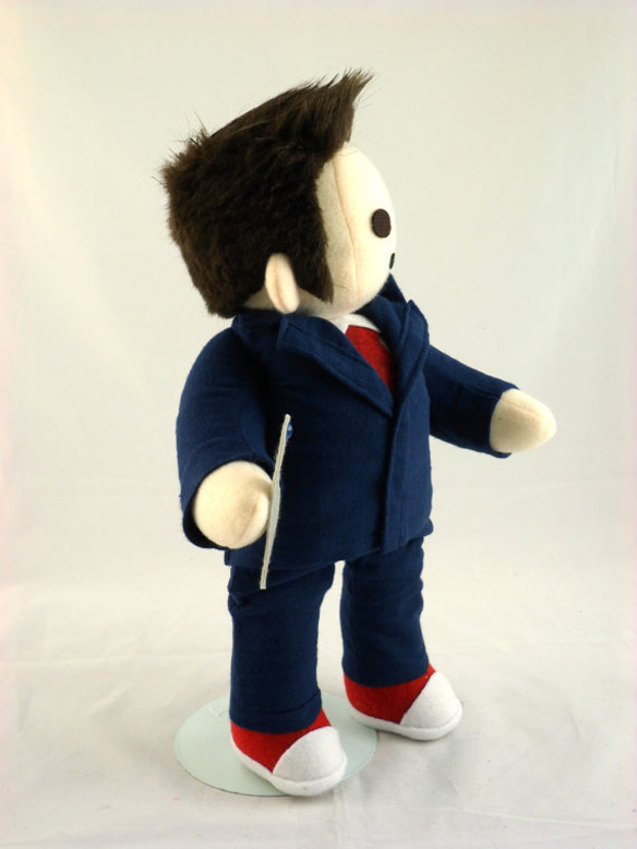 Doctor Who Cuddly Plush Tenth Time Traveler Side