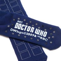 Doctor Who Cushion Slipper Socks with Treads