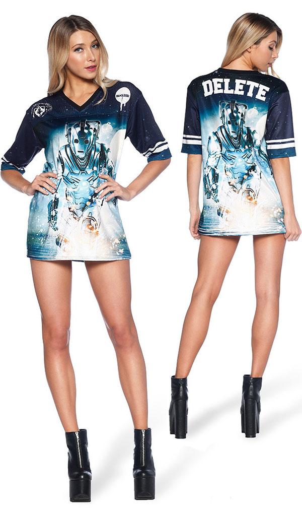Doctor Who Cyberman Ladies Touchdown Shirt