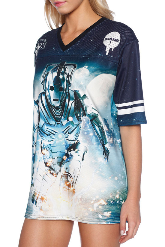 Doctor Who Cyberman Touchdown Shirt 1