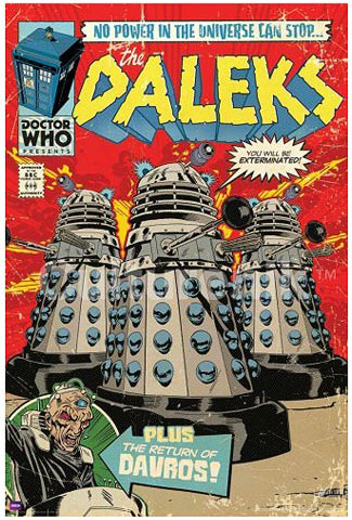 Doctor Who Daleks Comic Book Cover Poster