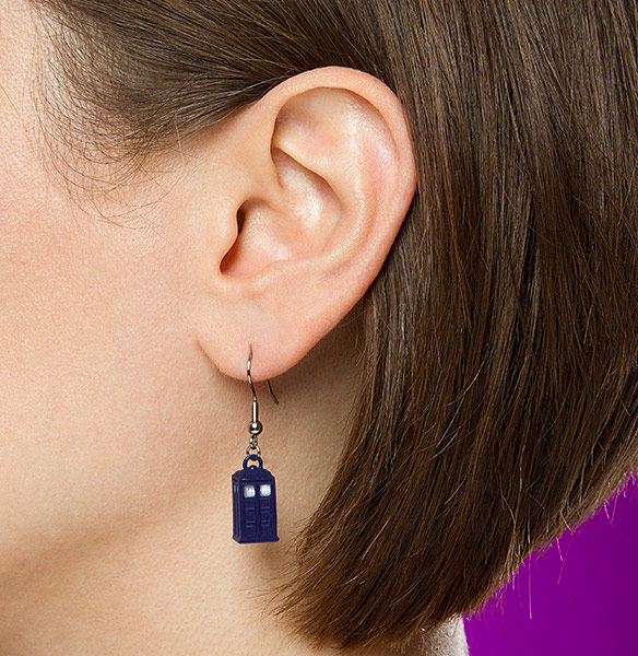 Doctor Who Dangle TARDIS Earrings