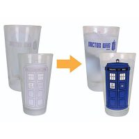 Doctor Who Disappearing TARDIS Pint Glass