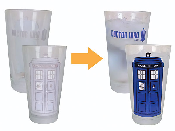 Doctor Who Disappearing TARDIS Pint Glasses