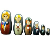 Doctor Who Doctors 1-6 Nesting Dolls