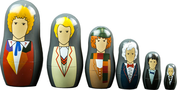 Doctor Who Doctors 1-6 Nesting Dolls Set