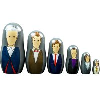 Doctor Who Doctors 7-12 Nesting Dolls