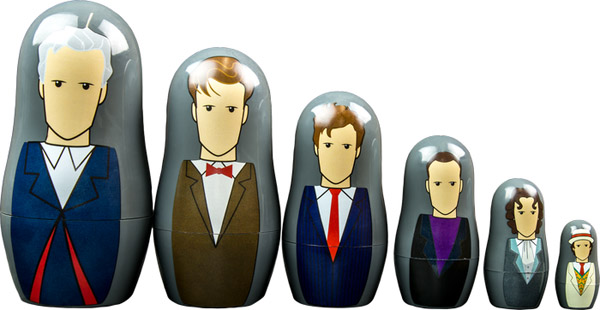 Doctor Who Doctors 7-12 Nesting Dolls Set