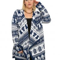 Doctor Who Fair Isle Open Plus Size Cardigan