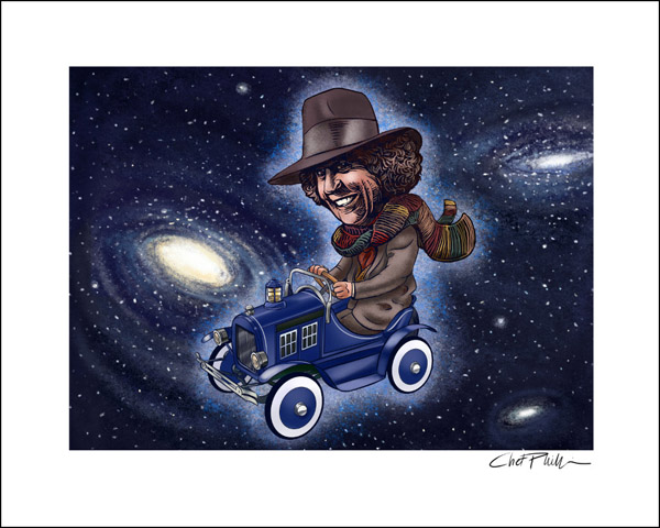 Doctor Who Fourth Doctor Pedal Car Art Print
