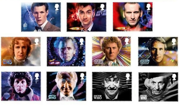 Doctor Who Framed Stamp Set
