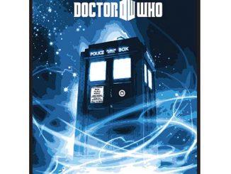Doctor Who Gallifrey Blue Throw Blanket