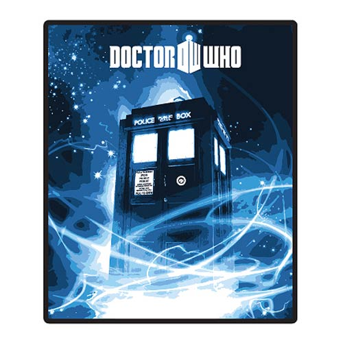 Doctor Who Gallifrey Blue Throw Blanket