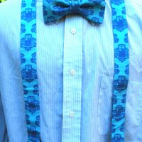 Doctor Who Gallifreyan Formal Wear - Bow Tie and Suspenders