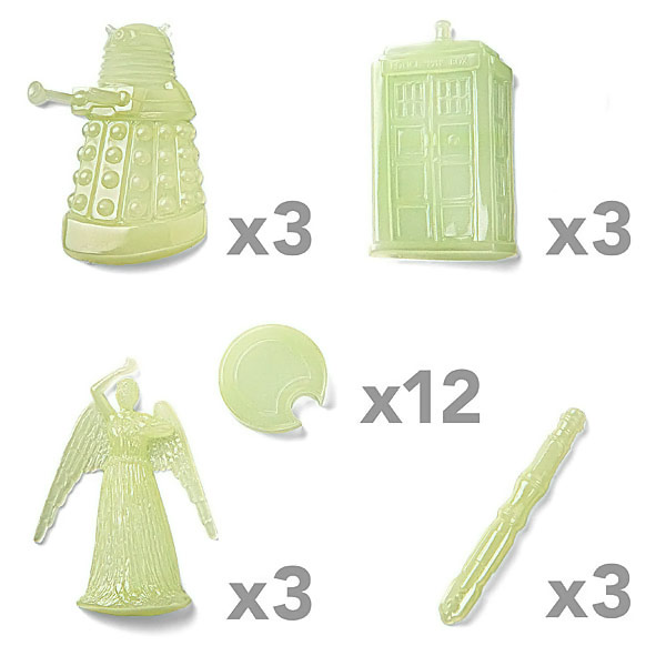 Doctor Who Glow in the Dark Decals