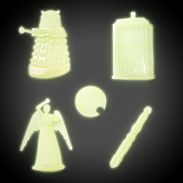 Doctor Who Glow in the Dark Molded Decals