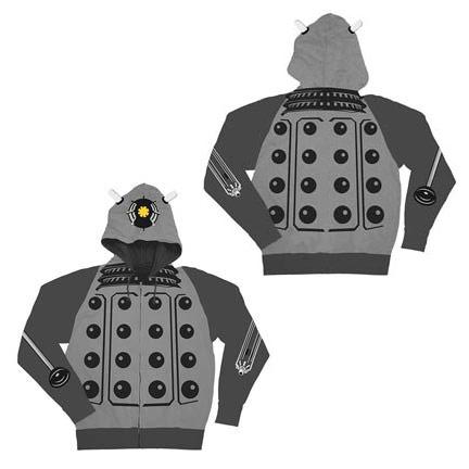 Doctor Who Gray Dalek Hoodie