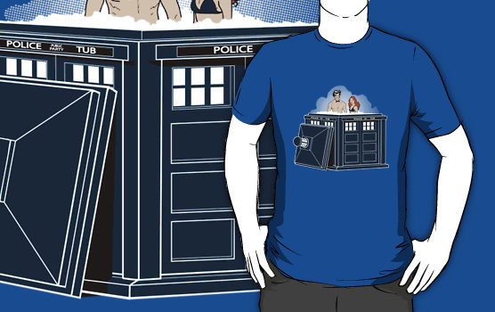 Doctor Who Hot Tub Time Machine Shirt