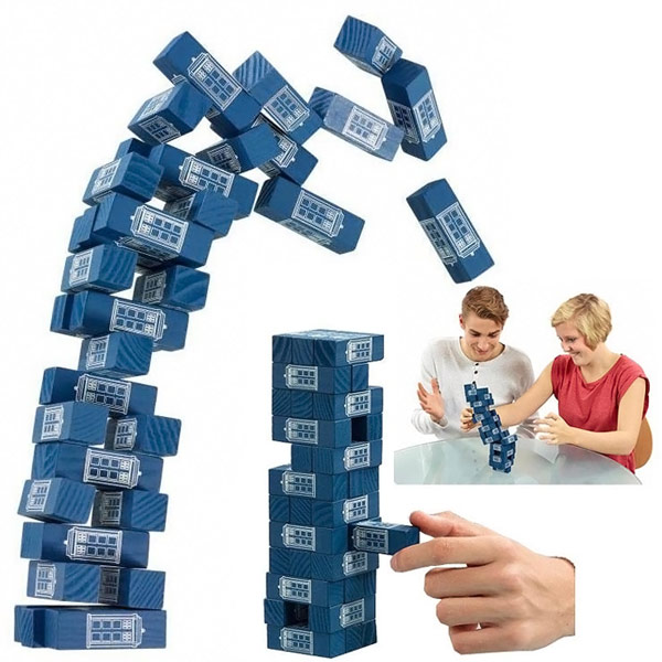 Doctor Who Jenga TARDIS Game