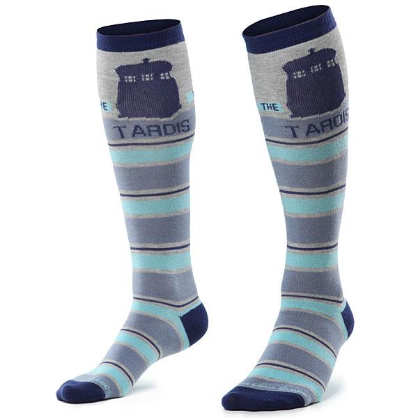 Doctor Who Knee High Tardis Socks