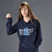 Doctor Who Knock Knock Who is There The Doctor Hoodie