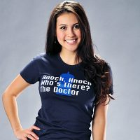 Doctor Who Knock Knock Who is There The Doctor T-Shirt for Women