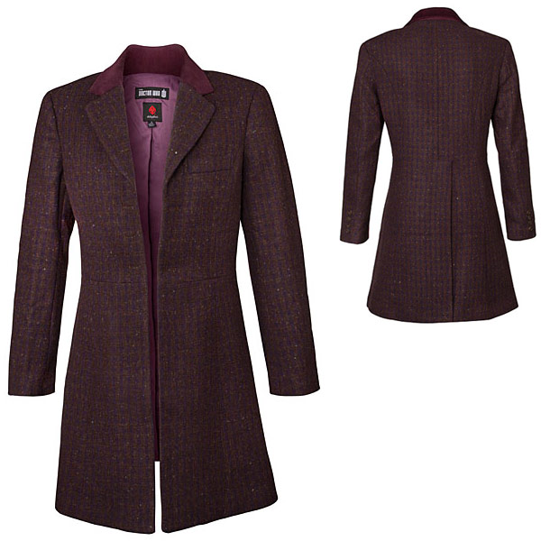 Doctor Who Ladies 11th Doctors Purple Coat