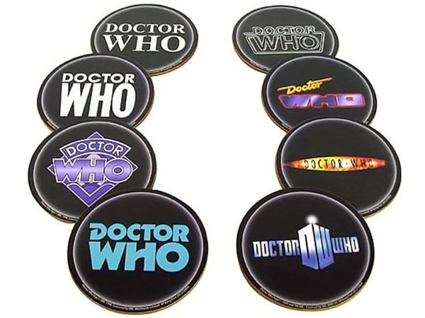 Doctor Who Logo Coasters Set