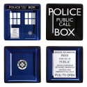 Doctor Who Melamine Square Plate Set